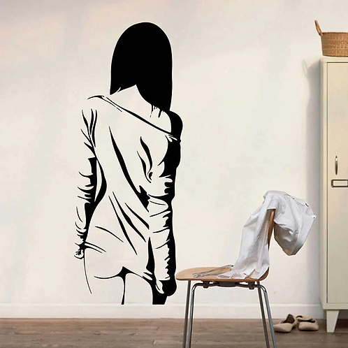 sexy girl vinyl decals for walls