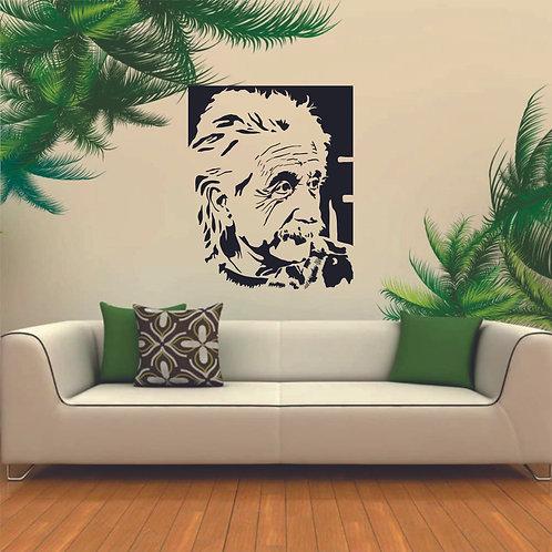 Albert Einstein vinyl decals for science students and kids