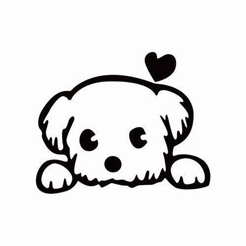 Cute puppy vinyl decal