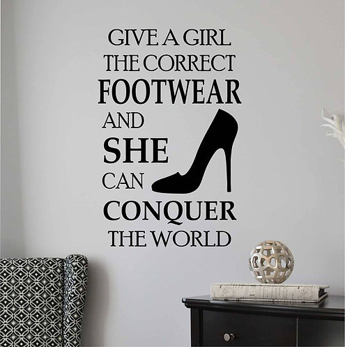 footwear quote for girls vinyl decals