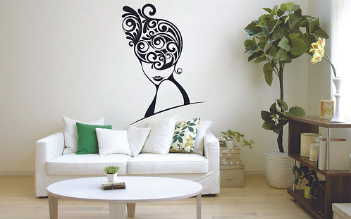 girl matte black vinyl sticker for walls