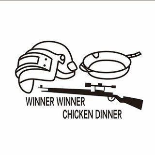 pubg players weapon vinyl decal