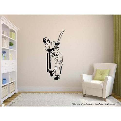 Batsman vinyl decals cricketer fan