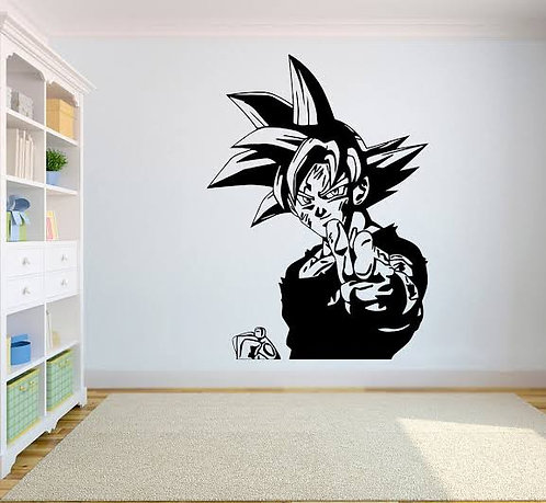 Goku vinyl decals for wall car laptops