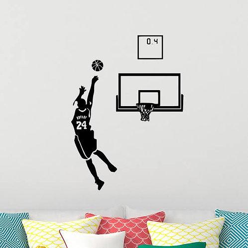 Sportsmen basket ball player vinyl decals for walls width*height (44.60*58.12in)