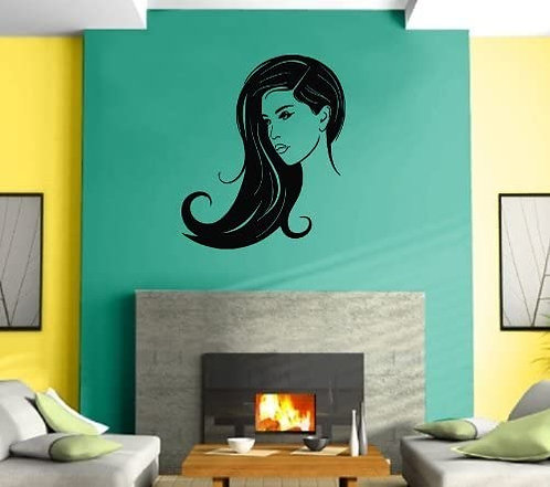 Girl for sallon and bedroom vinyl dcales