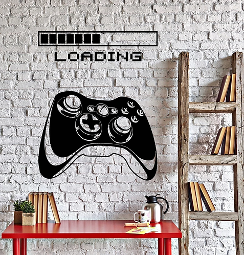 game loading for game lover vinyl sticker