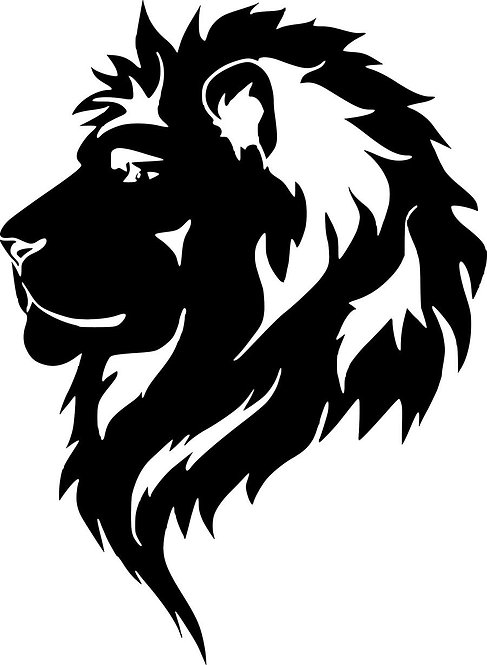 Lion Vinyl sticker for cars and bike