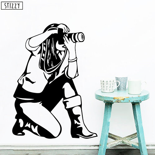 camera with girl setup vinyl