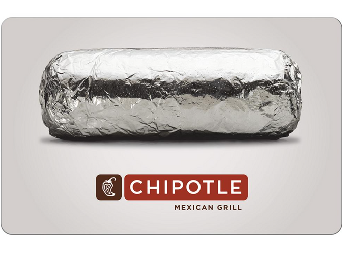 $10 Chipotle Gift Card