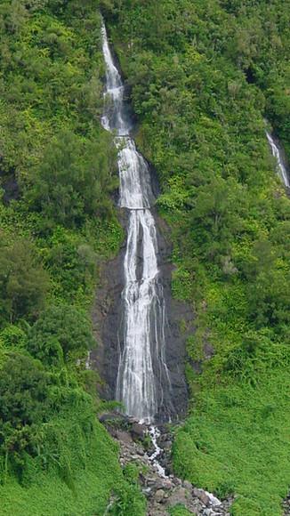 Reunion island waterfall