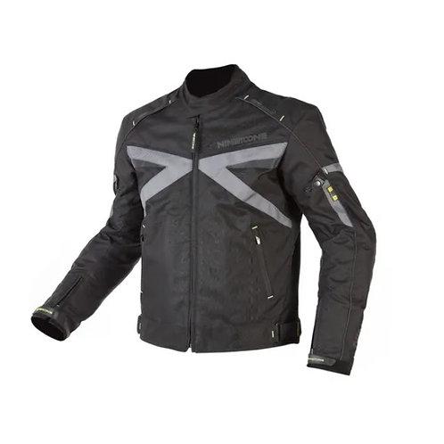 Campera Moto Cordura Protecciones Nine To One Volt Negro Gris