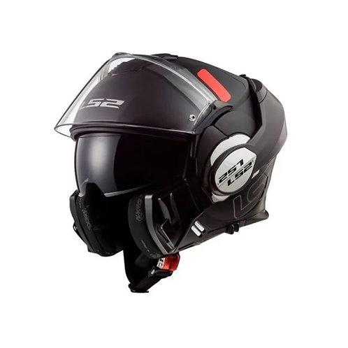 Casco Moto Rebatible Ls2 399 Valiant Prox Negro Titan