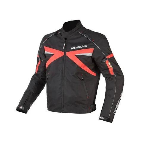 Campera Moto Cordura Protecciones Nine To One Volt Negro Rojo