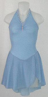 Scrunched Halter Dance Dress
