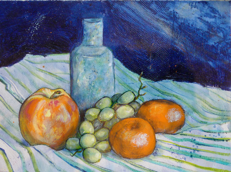 Still Life - blue and orange