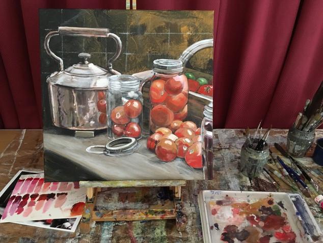 Bottling Tomatoes