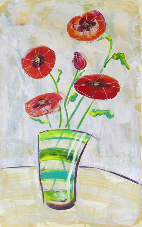 Splashy Poppies  - SOLD