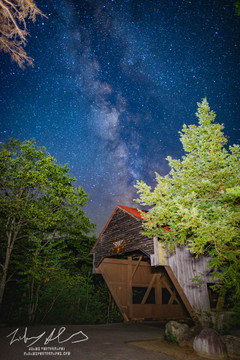 Milky way over Covered Bridge, NH