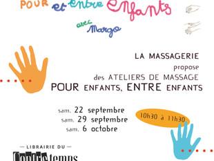 Ateliers massages pour et entre enfants avec Margo !