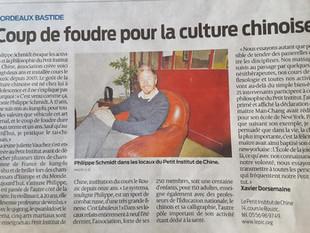 Le dernier article du journal SUD-OUEST sur le Petit Institut de Chine !