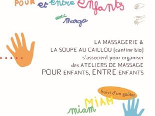 Atelier massage pour et entre enfants avec Margo le 20 janvier 2018 !!