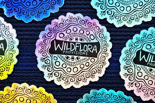 WildFlora Holographic Sticker