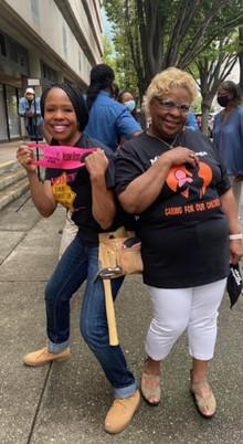 Shellie & Dr. Mom (Jacqueline W. Stewart, Mission Hugs, Founder)