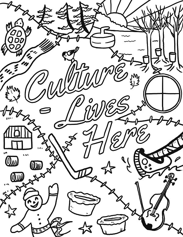 Culture Lives Here - Colouring Page 2021