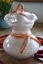 Gefäß mit Deckel weiß glänzend TiSaTo Mo