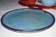 blauer Teller, TiSaTo Mond - Keramik, Ch