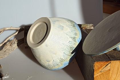 Steinzeug - Schüssel mit Deckel