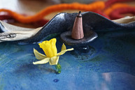 Keramikschale mit Räucherplatz, TiSaTo M