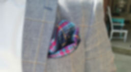 Suit jacket pocket an scarf
