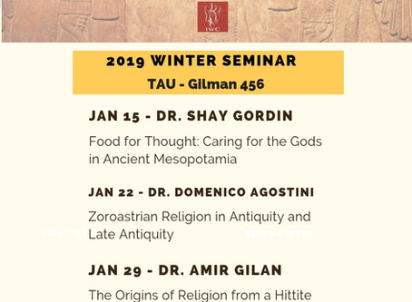 Exploring Ancient Religions in IWC Archaeology Winter Seminar