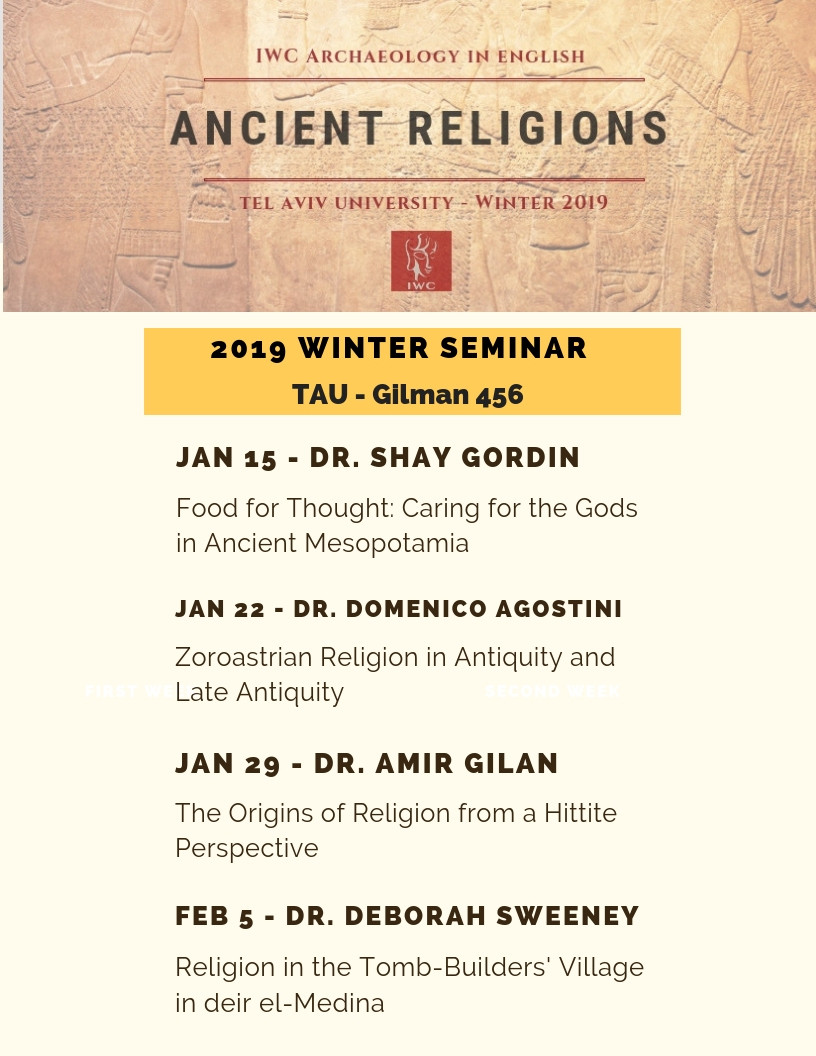 IWC Archaeology Winter Seminar 2019 - Ancient Religions
