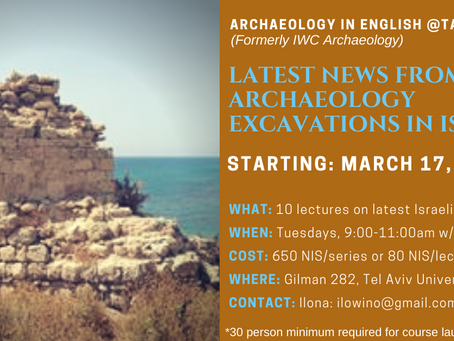 New Beginning for Archaeology in English @ TAU