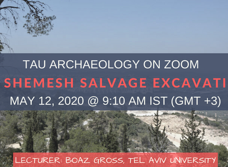 FREE Zoom Lecture on Beit Shemesh Salvage Excavations ⛏️