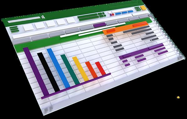 Excel 3d Spreadsheet Reversed 1000 Shado