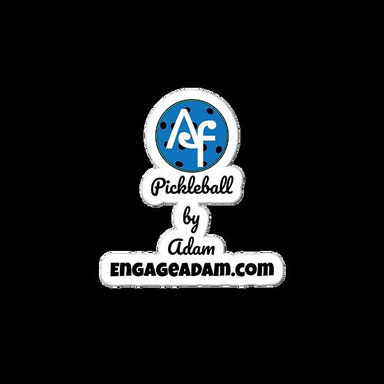 Pickleball by Adam Bubble-free stickers