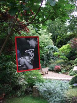 Exposition dans le jardin