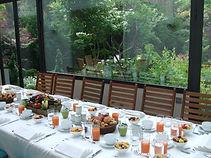 Privatiser un jardin à paris. Petit déjeuner, déjeuner et dîner au Jardin des Bauches