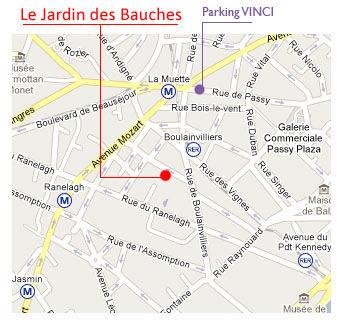 Privatiser un jardin à paris. Accès au Jardin des Bauches