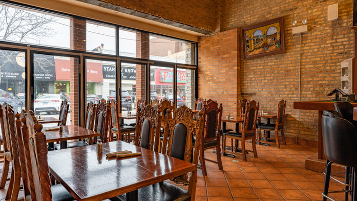 Dining Area Near Bar Garcia's Restaurant