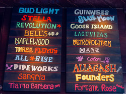 Crawford's Interior Beer Board