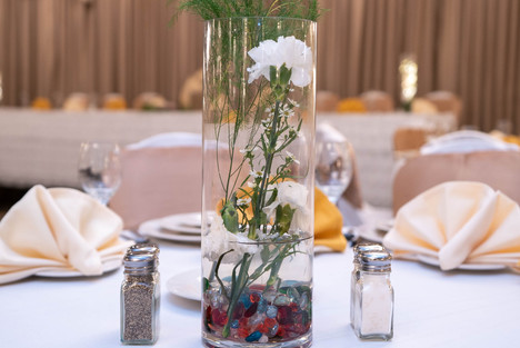 La Villa Banquet Hall Center Piece