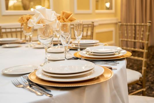 Dinner Setting at La Villa Banquets