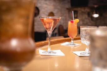 Hard Living and Rose Fresco Martini