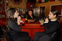 Enjoying Cocktails at the Bar!