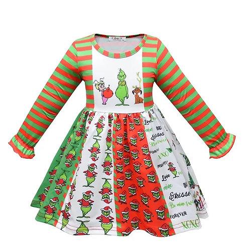 Long Sleeve Holiday Character Dress